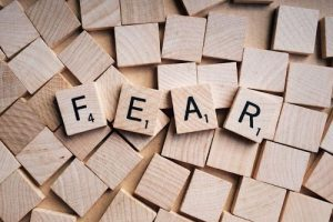 Fear Scrabble Pieces